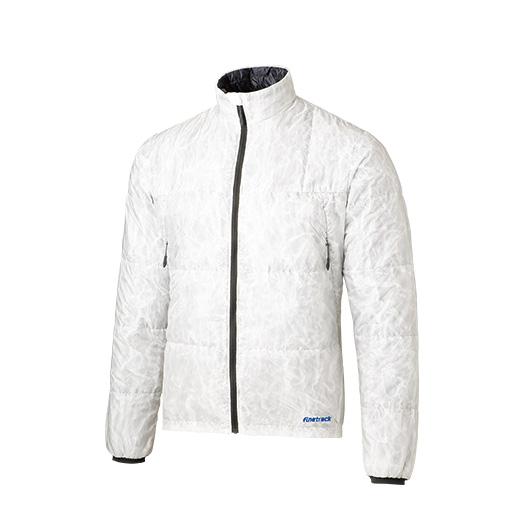 ★Wエントリーでポイント9倍!finetrack(ファイントラック) ポリゴン2ULジャケット Ms EW FIM0213男性用 ホワイト アウター メンズウェア ウェア ジャケット 中綿入り ジャケット 中綿入り男性用 アウトドアウェア
