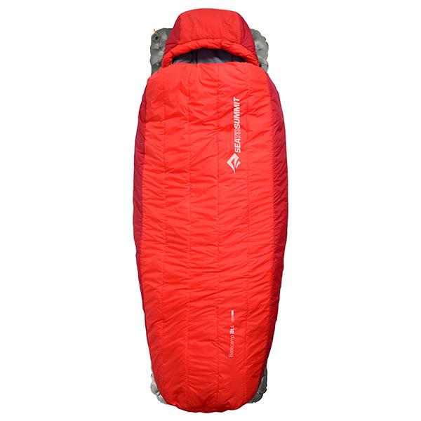 SEA TO SUMMIT(シートゥーサミット) ベースキャンプ Bt4/レッド/レギュラー ST81352男女兼用 レッド 一人用(1人用) スリーシーズンタイプ(三期用) シュラフ 寝袋 アウトドア用寝具 マミー型 マミースリーシーズン アウトドアギア