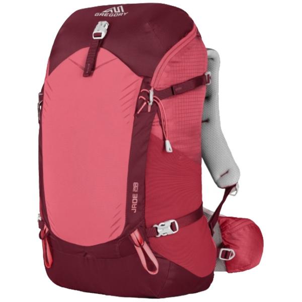GREGORY(グレゴリー) ジェイド28/ルビーレッド/M 68425女性用 レッド リュック バックパック バッグ トレッキングパック トレッキング20 アウトドアギア