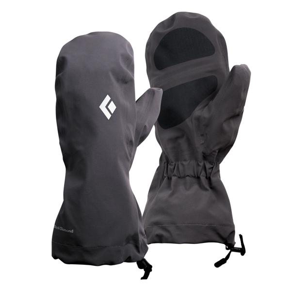 Black Diamond(ブラックダイヤモンド) ウォータープルーフオーバーミット/スモーク/L BD73154001006アウトドアウェア 冬用グローブ ウェアアクセサリー メンズウェア 手袋 ブラック 男性用