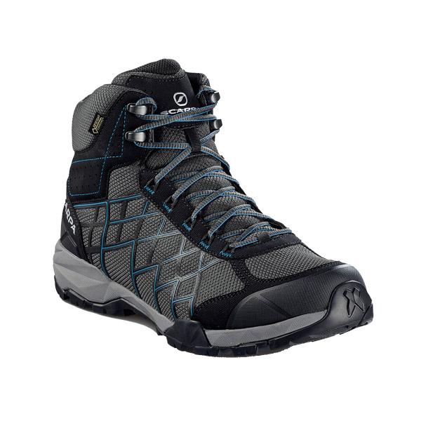 SCARPA(スカルパ) ハイドロジェン HIKE GTX/ダークグレー/レイクブルー/#46 SC22030グレー ブーツ 靴 トレッキング トレッキングシューズ ハイキング用 アウトドアギア