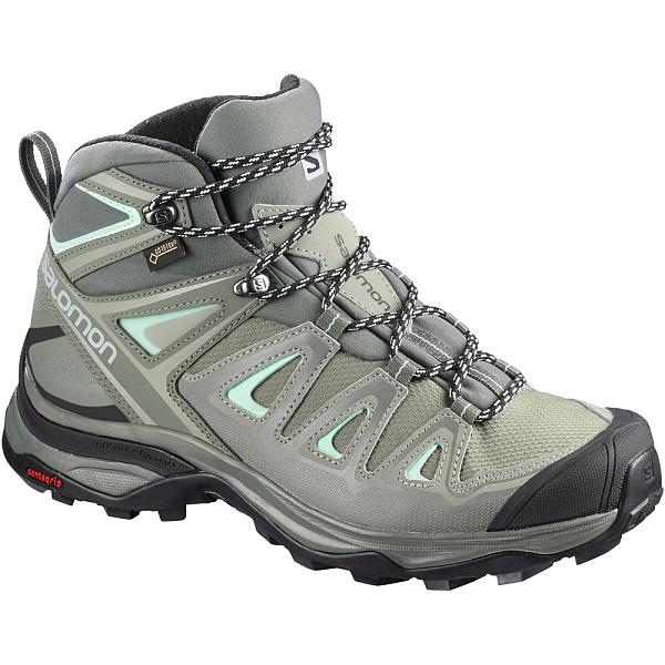 SALOMON(サロモン) ULTRA WIDE MID GTX /Shadow Castor Gray Beach Glass /23.5cm L40133100ブーツ 靴 トレッキング トレッキングシューズ ハイキング用 アウトドアギア