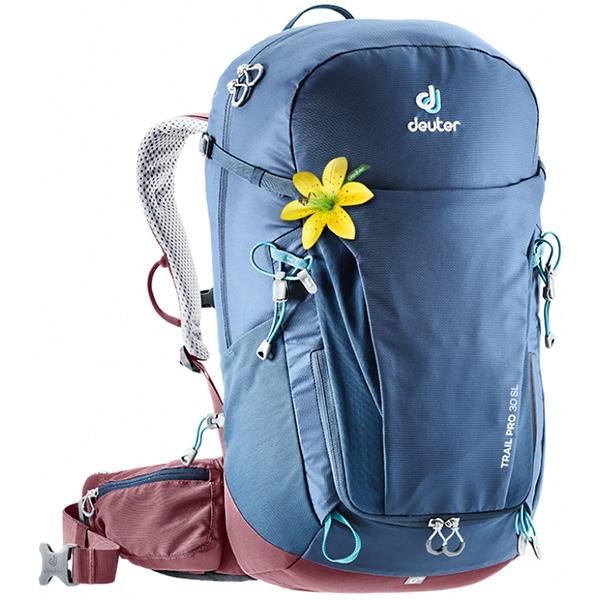 deuter(ドイター) トレイル プロ 30 SL ミッドナイト×マロン D3441019-3523女性用 ブルー リュック バックパック バッグ トレッキングパック トレッキング30 アウトドアギア