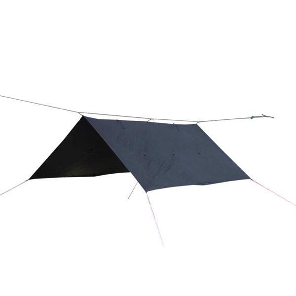 Bush Craft(ブッシュクラフト) ORIGAMI TARP 3×3 ブラックステッチ 23180ブラック タープ タープ テント スクエア型タープ スクエア型タープ アウトドアギア
