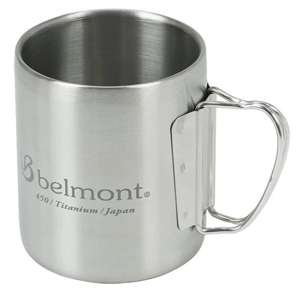 belmont(ベルモント) チタンダブルマグ450FH logo BM-320カップ キャンプ用食器 アウトドア マグカップ・タンブラー マグカップ アウトドアギア