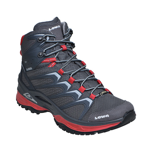 LOWA(ローバー) イノックス GT MID/GR/10H L310603-971710Hアウトドアギア ハイキング用 トレッキングシューズ トレッキング 靴 ブーツ ブラック 男性用
