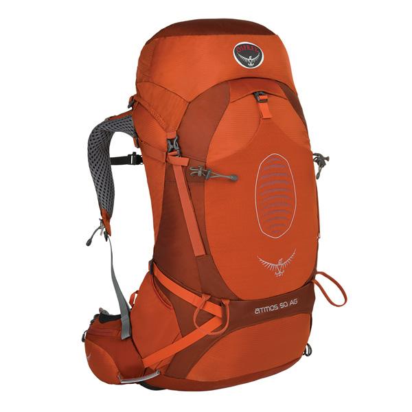 OSPREY(オスプレー) アトモスAG 50/シナバーレッド/S OS50191男女兼用 オレンジ リュック バックパック バッグ トレッキングパック トレッキング50 アウトドアギア