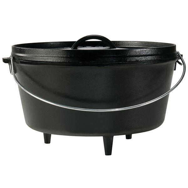 LODGE(ロッジ) [正規品]LDG キャンプオーブン 12D L12DCO3 19240122ブラック ダッチオーブン クッキング用品 バーべキュー ダッチオーブン12インチ アウトドアギア