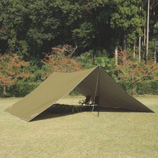 ★エントリーでポイント10倍!UNIFLAME(ユニフレーム) UFビッグタープ8×6カーキグリーン 693254アウトドアギア スクエア型タープ テント グリーン おうちキャンプ