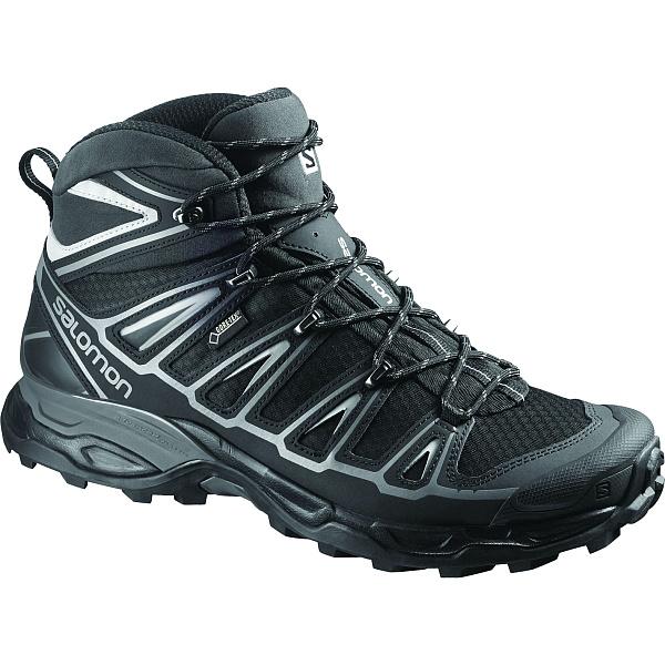 Salomon(サロモン) X ULTRA MID 2 GTX/BLACK/BLACK/ALUMINIUM/28cm L37077000男性用 大人用 ブラック ブーツ 靴 トレッキング アウトドアスポーツシューズ トレイルランシューズ アウトドアギア