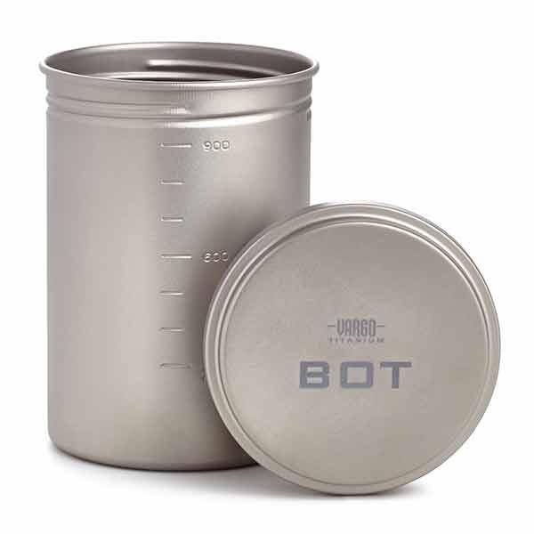 vargo(バーゴ) チタニウム ボット(ボトルポット) T-427アウトドアギア ポット、ケトル アウトドア バーべキュー クッキング クッキング用品