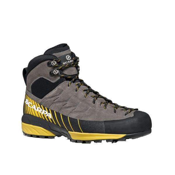 SCARPA(スカルパ) メスカリートミッド GTX/チタニウム×シトラス/40 SC21010アウトドアギア アウトドアスポーツシューズ メンズ靴 ウォーキングシューズ 男性用 おうちキャンプ ベランピング