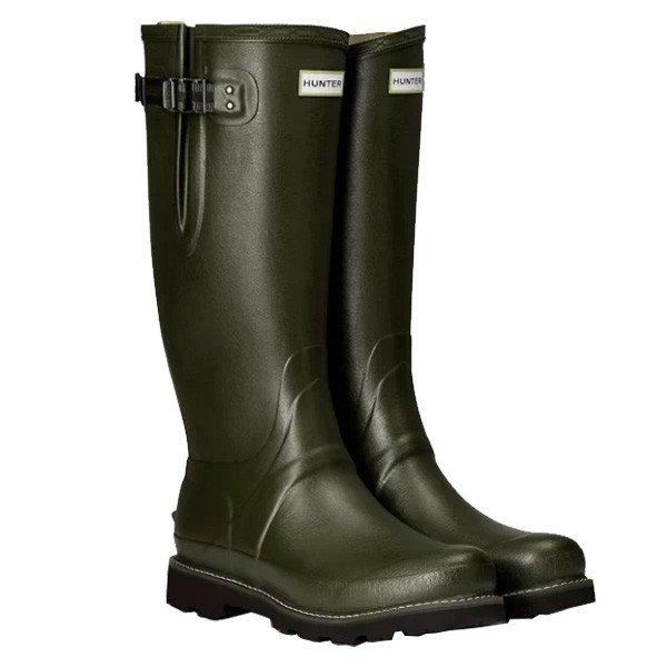 HUNTER(ハンター) BALM SOV POLY LINED SIDE ADJ/DOV/9 MFT9100RPOグリーン ブーツ レインシューズ レディース靴 レインブーツ レインブーツ アウトドアウェア
