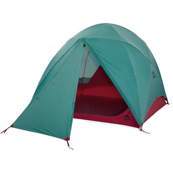3980円以上送料無料 期間限定送料無料 おうちキャンプ ベランピング MSR エムエスアール ハビチュード4 登山用テント 37028アウトドアギア タープ 登山4 レッド 待望