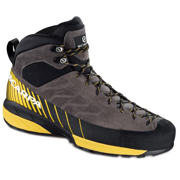 SCARPA(スカルパ) メスカリートミッド GTX/チタニウム×シトラス/42 SC21010アウトドアギア アウトドアスポーツシューズ メンズ靴 ウォーキングシューズ 男性用 おうちキャンプ