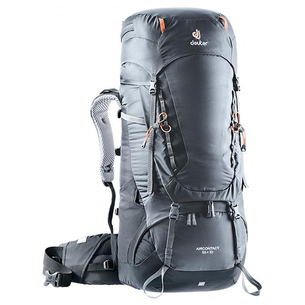 deuter(ドイター) エアコンタクト 55 10 グラファイト×ブラック D3320319-4701ブラック リュック バックパック バッグ トレッキングパック トレッキング50 アウトドアギア