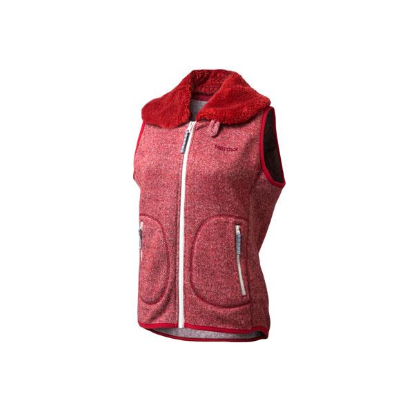 Marmot(マーモット) WS SLOW MOUNTAIN FLE/(AKNM)/L MJF-F5611W女性用 大人用 レッド フリース アウター レディースファッション フリースベスト フリースベスト女性用 アウトドアウェア
