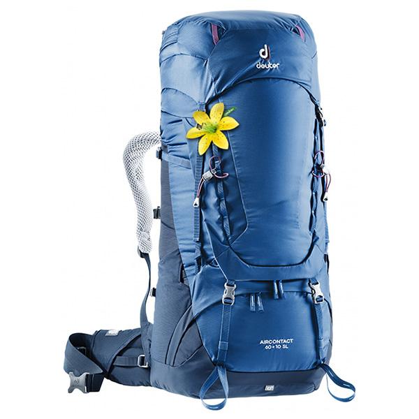 deuter(ドイター) エアコンタクト 60 10 SL スティール×ミッドナイト D3320419-3399アウトドアギア トレッキング60 トレッキングパック バッグ バックパック リュック ブルー 女性用 おうちキャンプ