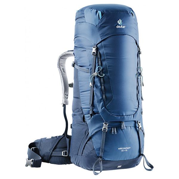 deuter(ドイター) エアコンタクト 65 10 ミッドナイト×ネイビー D3320519-3365ブルー リュック バックパック バッグ トレッキングパック トレッキング60 アウトドアギア