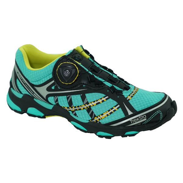 TrekSta(トレクスタ) NEST SyncBOA/ラグーン/イエロー964/23.5 EBK522ブルー ブーツ 靴 トレッキング アウトドアスポーツシューズ トレイルランシューズ アウトドアギア