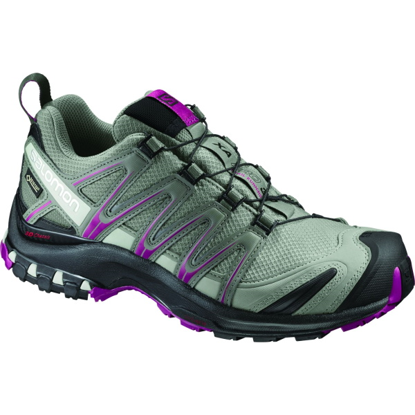 Salomon(サロモン) XA PRO 3D GTX W/Shadow/Black/Sangria/25.0cm L39333100女性用 大人用 グレー ブーツ 靴 トレッキング アウトドアスポーツシューズ トレイルランシューズ アウトドアギア