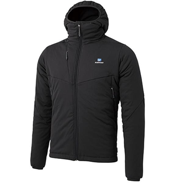 finetrack(ファイントラック) ドラウトポリゴン3フーディ/Ms/BK/L FMM0901男性用 ブラック アウター メンズウェア ウェア ジャケット 中綿入り ジャケット 中綿入り男性用 アウトドアウェア