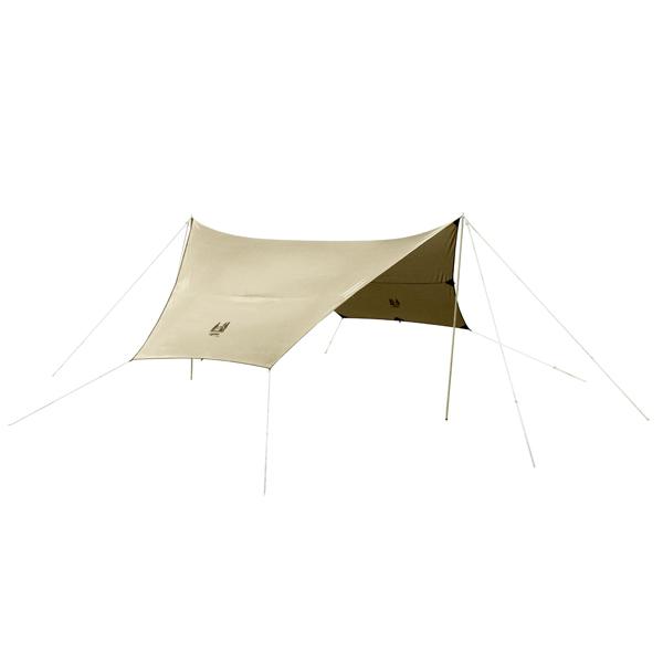 ogawa campal(小川キャンパル) フィールドタープヘキサDX/サンドベージュ 3333アウトドアギア ヘキサ・ウイング型タープ テント ベージュ