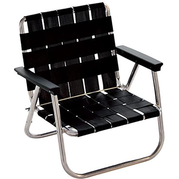 LAWN CHAIR(ローンチェア) ローバックビーチチェア Midnight 62511ブラック イス レジャーシート テーブル チェア コンパクトチェア アウトドアギア