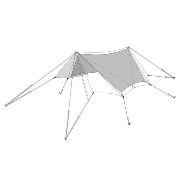snow peak(スノーピーク) TAKIBIタープ オクタ インナールーフ(替パーツ) TP-430-1アウトドアギア ヘキサ・ウイング型タープ テント 六人用(6人用)