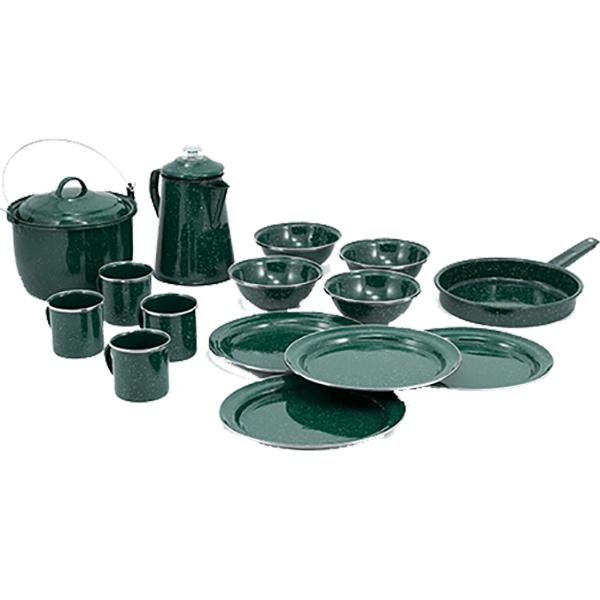 GSI(ジーエスアイ) GSI パイオニア 16P キャンプセット Fグリーン 11870005グリーン セット キャンプ用食器 アウトドア テーブルウェア テーブルウェアセット アウトドアギア