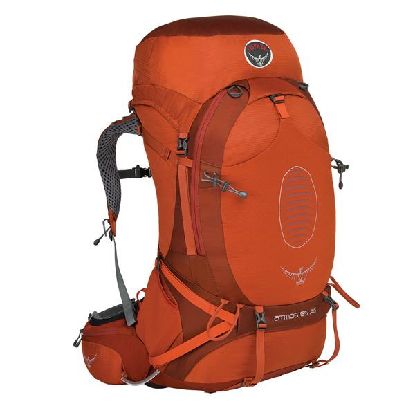 OSPREY(オスプレー) アトモスAG 65/シナバーレッド/M OS50190アウトドアギア トレッキング70 トレッキングパック バッグ バックパック リュック オレンジ 男性用 おうちキャンプ