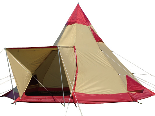 ogawa campal(小川キャンパル) ピルツ15-2/8人用/レッド×サンド(10) 2794テント タープ キャンプ用テント キャンプ大型 アウトドアギア