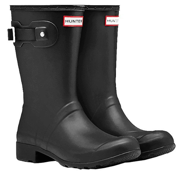 HUNTER(ハンター) ORIGINAL TOUR SHORT/BLK/5 WFS1026RMA女性用 ブラック ブーツ レインシューズ レディース靴 レインブーツ レインブーツ アウトドアウェア