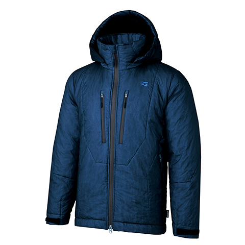 finetrack(ファイントラック) ポリゴンバリアフーディ/Unisex/NV/L FLU0102男女兼用 ネイビー アウター メンズウェア ウェア ジャケット 中綿入り ジャケット 中綿入り男性用 アウトドアウェア