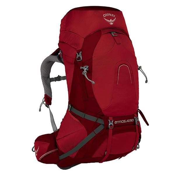 OSPREY(オスプレー) アトモスAG 50/リグビーレッド/M OS50182レッド リュック バックパック バッグ トレッキングパック トレッキング50 アウトドアギア