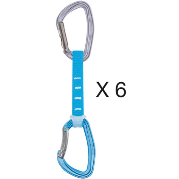 PETZL(ペツル) ジンアクセス6本パック/12cm M060DA00アウトドアギア クイックドロー 登山 トレッキング カラビナ ブルー