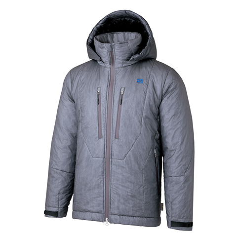 finetrack(ファイントラック) ポリゴンバリアフーディ/TI/S FLU0102アウトドアウェア ジャケット 中綿入り男性用 ジャケット 中綿入り メンズウェア アウター グレー 男女兼用