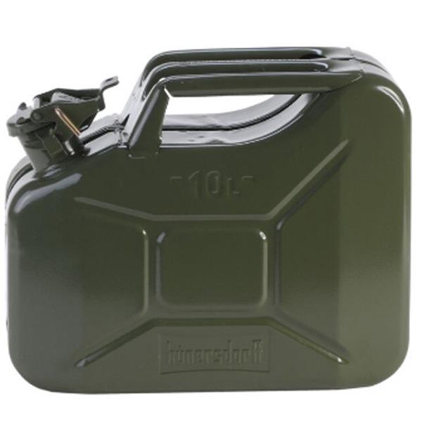 hunersdorff (ヒューナースドルフ) Metal Kanister CLASSIC 10L olive 434601カーキ 燃料 アウトドア アウトドア 燃料タンク 燃料タンク アウトドアギア