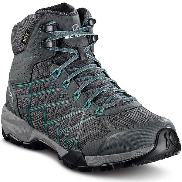 SCARPA(スカルパ) ハイドロジェン HIKE GTX WMN/アイアングレー/ラグーン/#38 SC22040女性用 グレー ブーツ 靴 トレッキング トレッキングシューズ ハイキング用女性用 アウトドアギア
