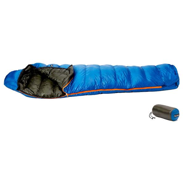 PuroMonte(プロモンテ) コンパクトダウンシュラフ450g/Rブルー/Dグリーン DL451ブルー シュラフ 寝袋 アウトドア用寝具 マミー型 マミースリーシーズン アウトドアギア