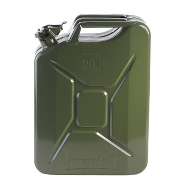 hunersdorff (ヒューナースドルフ) Metal Kanister CLASSIC 20L olive 434701カーキ 燃料 アウトドア アウトドア 燃料タンク 燃料タンク アウトドアギア