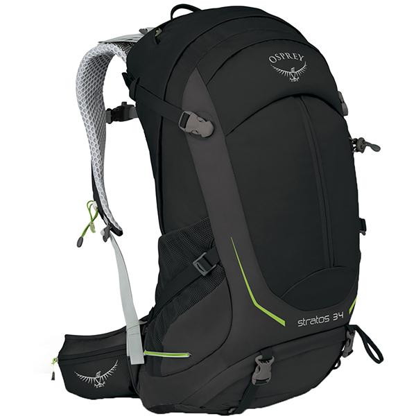 OSPREY(オスプレー) ストラトス 34/ブラック/M/L OS50302ブラック リュック バックパック バッグ トレッキングパック トレッキング30 アウトドアギア