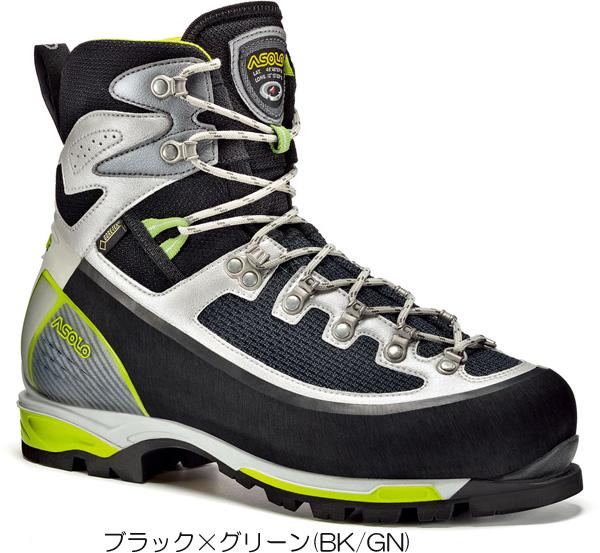 ASOLO(アゾロ) AS.6B+GVMS/BK/GN/K6.5 1829506ブーツ 靴 トレッキング トレッキングシューズ アルパイン用 アウトドアギア