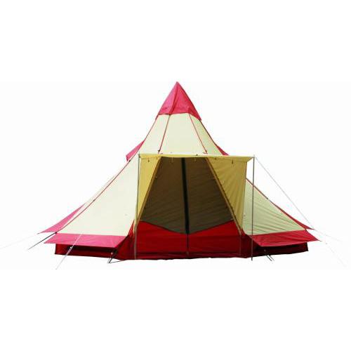 ogawa campal(小川キャンパル) ピルツ12/レッド×サンド(10) 2725テント タープ キャンプ用テント キャンプ6 アウトドアギア