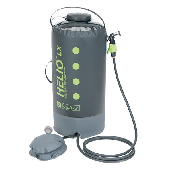 ★エントリーでポイント10倍!NEMO(ニーモ・イクイップメント) ヘリオLX プレッシャーシャワー NM-HELX-BKアウトドアギア サーフィン ボディボード 携帯用シャワー おうちキャンプ