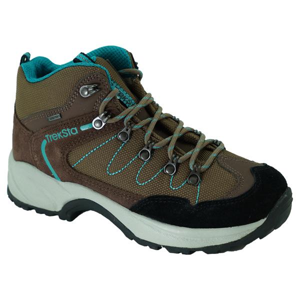 TrekSta(トレクスタ) バックカントリー/ブラウン/エメラルドグリーン/22.5 EBK137ブラウン ブーツ 靴 トレッキング トレッキングシューズ ハイキング用 アウトドアギア