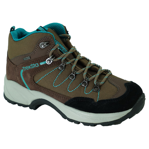TrekSta(トレクスタ) バックカントリー/ブラウン/エメラルドグリーン/23.0 EBK137ブラウン ブーツ 靴 トレッキング トレッキングシューズ ハイキング用 アウトドアギア