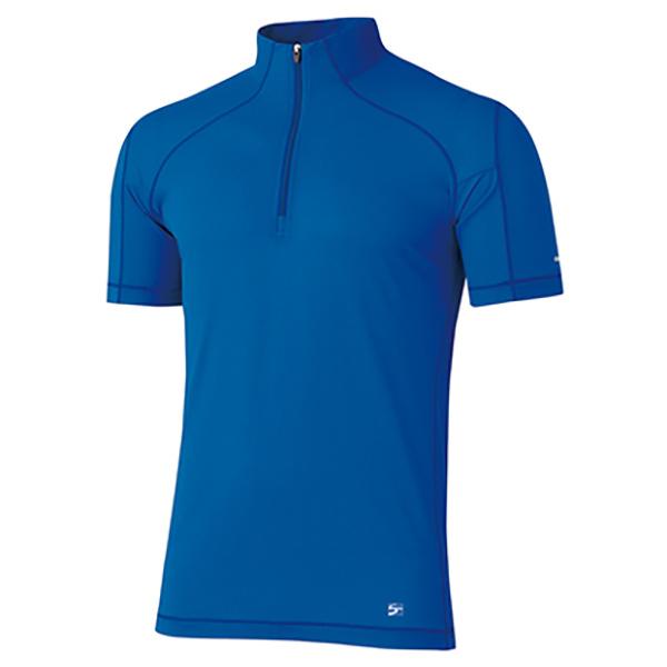 finetrack(ファイントラック) MENSドラウトゼファージップT/DN/S FMM1312男性用 ブルー トップス メンズインナー スポーツ用インナー 男性用インナー 半袖シャツ アウトドアウェア
