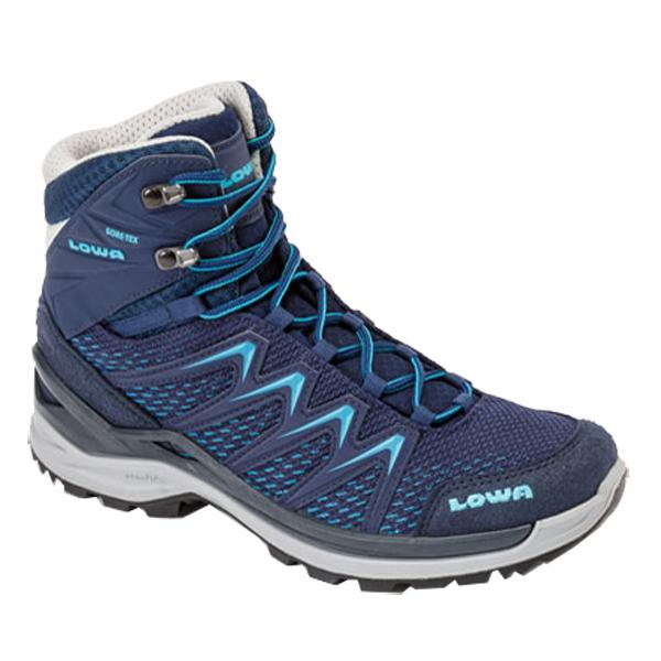 LOWA(ローバー) イノックス プロ GT MID Ws/ネイビー×ターコイズ/6 L320703-6969アウトドアギア トレッキング用女性用 トレッキングシューズ トレッキング 靴 ブーツ おうちキャンプ
