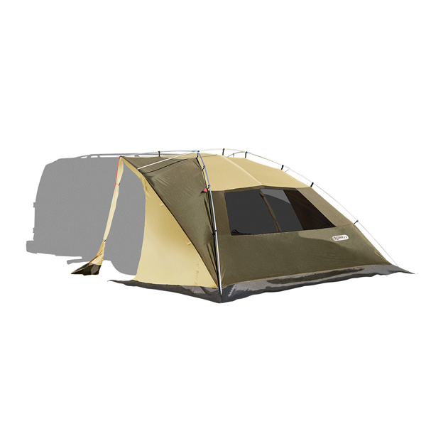 納期:2019年04月上旬ogawa campal(小川キャンパル) カーサイドリビングDX/ブラウン×サンド×レッド(80) 2325オールシーズンタイプ タープ タープ テント カーサイド型 カーサイド型 アウトドアギア